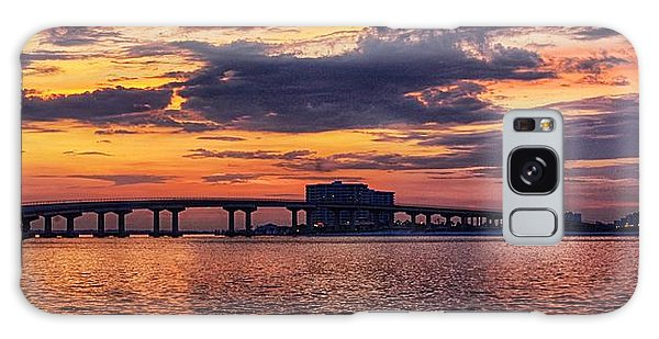 Perdido Bridge Sunrise Galaxy Case by Michael Thomas