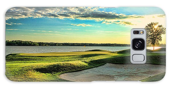 Perfect Golf Sunset Galaxy Case by Reid Callaway