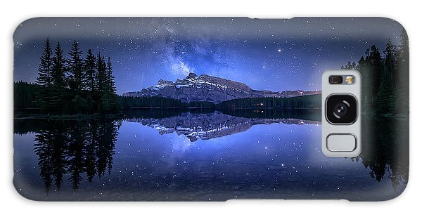 Milky Way Galaxy Case - Perfect Two Jack Lake Reflection by Jes??s M. Garc??a