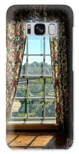 Window Galaxy Case - Period Window With Floral Curtains by Edward Fielding