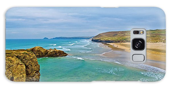 Perranporth Beach Galaxy Case