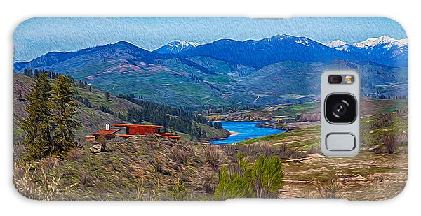 Perrygin Lake In The Methow Valley Landscape Art Galaxy Case