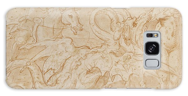 Perseus Rescuing Andromeda Red Chalk On Paper Galaxy Case