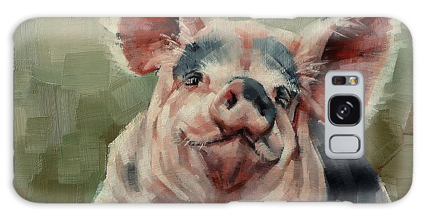 Personality Pig Galaxy Case by Margaret Stockdale