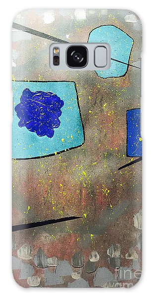 Perspectives In Blue And Grey Galaxy Case by Theresa Kennedy DuPay