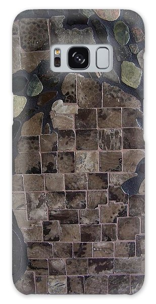 Pestoskey Stone Michigan Map Galaxy Case