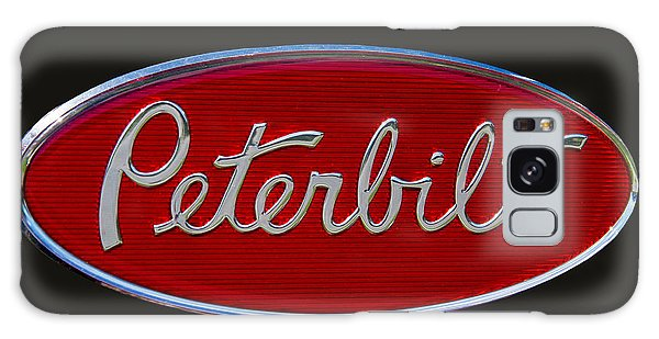 Truck Galaxy Case - Peterbilt Semi Truck Emblem by Nick Gray