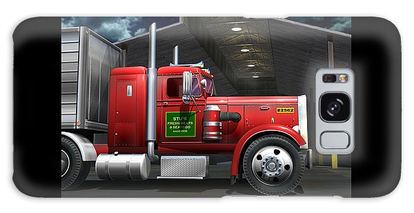 Semis Galaxy Case - Peterbilt Truck by Stuart Swartz
