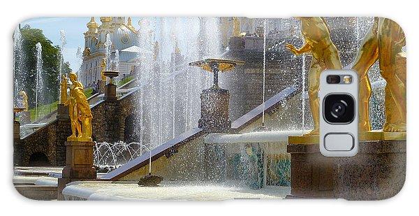 Peterhof Palace Fountains Galaxy Case by David Nichols