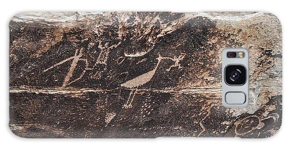 Petroglyph Bird Galaxy Case by Cheryl McClure