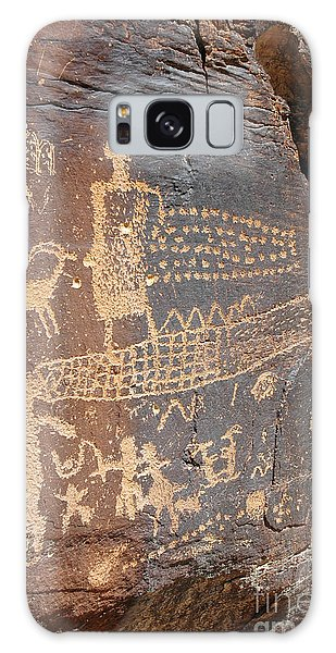 555p Petroglyph - Nine Mile Canyon Galaxy Case