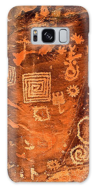 Petroglyph Symbols Galaxy Case by Phyllis Denton
