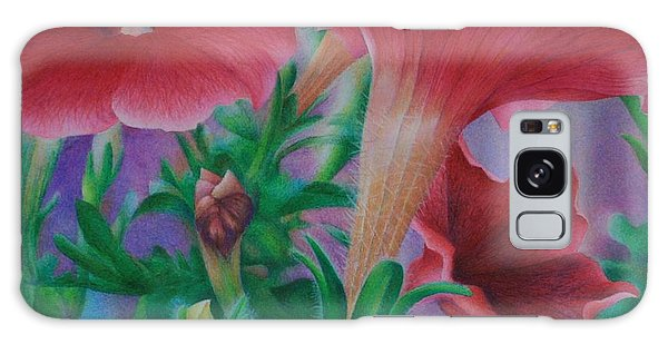 Petunia Skies Galaxy Case by Pamela Clements