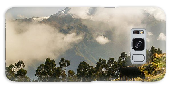 Peru Mountains With Cow Galaxy Case by Allen Sheffield