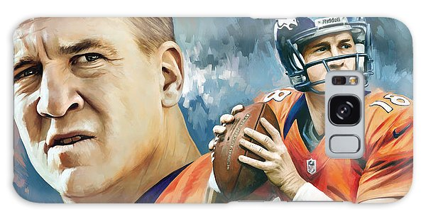 Peyton Manning Artwork Galaxy Case by Sheraz A