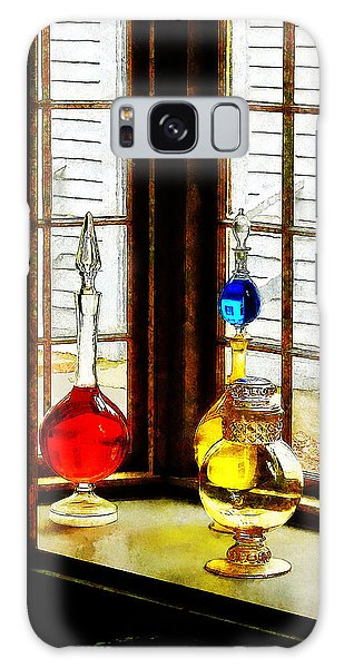 Pharmacist - Colorful Bottles In Drug Store Window Galaxy Case by Susan Savad