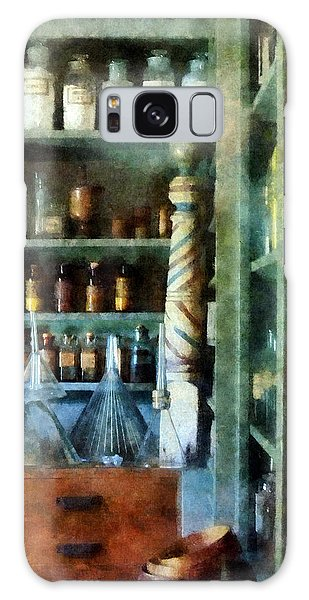 Pharmacy - Back Room Of Drug Store Galaxy Case by Susan Savad