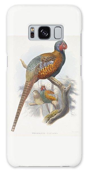 Phasianus Elegans Elegant Pheasant Galaxy Case