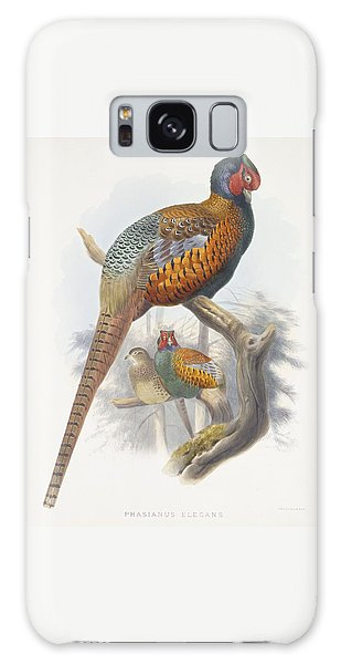 Phasianus Elegans Elegant Pheasant Galaxy Case by Daniel Girard Elliot