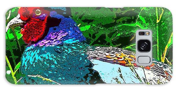 Pheasant Digiartwork Galaxy Case by Tim Ernst