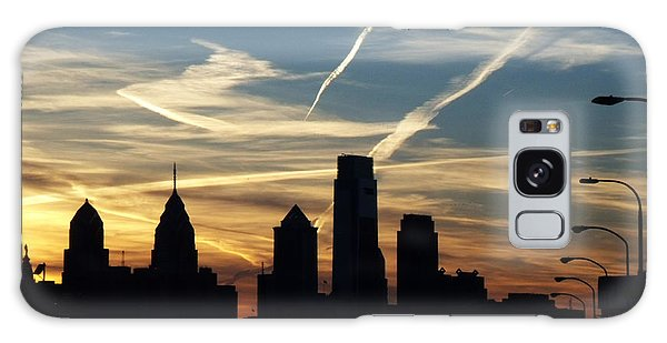 Philadelphia At Dusk Galaxy Case by Lyric Lucas