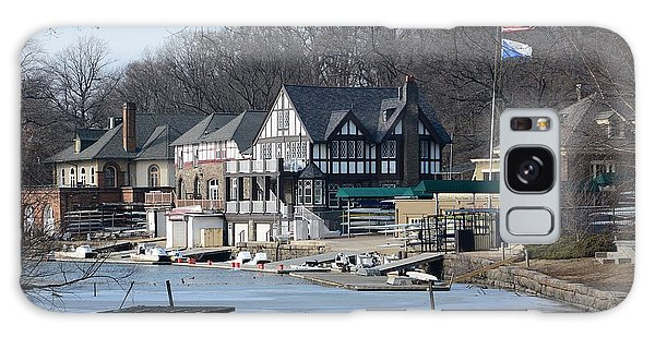 Philadelphia - Boat House Row Galaxy Case by Cindy Manero