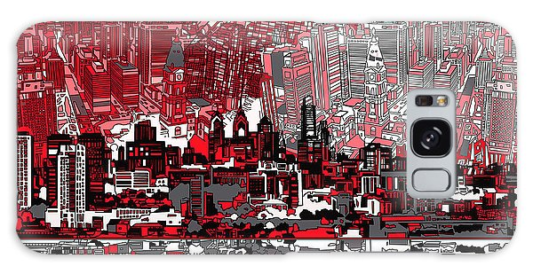 Philadelphia Skyline Abstract 4 Galaxy Case