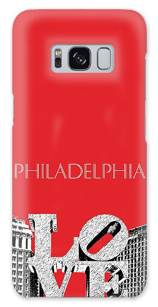 Philadelphia Skyline Love Park - Red Galaxy Case by DB Artist