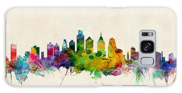 Philadelphia Skyline Galaxy Case by Michael Tompsett