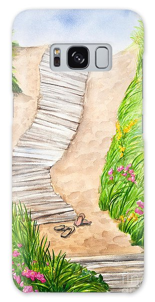Philbin Beach Path Galaxy Case by Michelle Wiarda