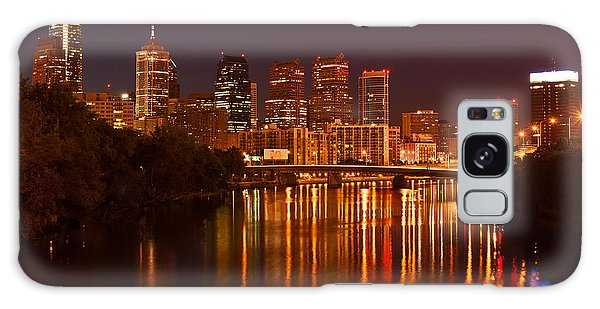 Philly Lights Reflected Galaxy Case by Michael Porchik