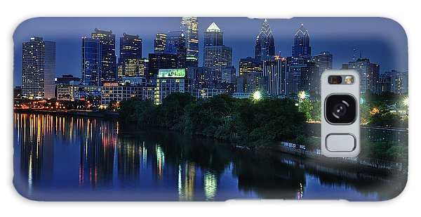 Evening Galaxy Case - Philly Skyline by Mark Fuller
