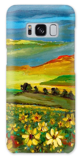 Galaxy Case featuring the painting Philosophy Of Colors by Ray Khalife