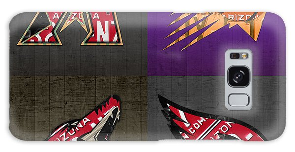 Phoenix Sports Fan Recycled Vintage Arizona License Plate Art Diamondbacks Suns Coyotes Cardinals Galaxy S8 Case