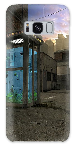 Phone Booth Galaxy Case by Cynthia Decker