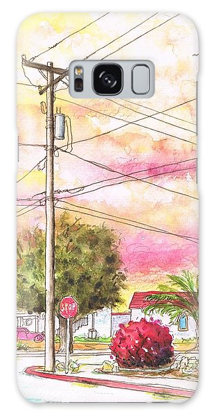 Phone Pole In Arroyo Grande - Californa Galaxy Case by Carlos G Groppa