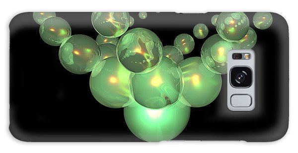 Phosphorescent Glass Twirl  Galaxy Case