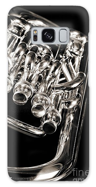 Photograph Of A Music Tuba Brass Instrument In Sepia 3284.01 Galaxy Case