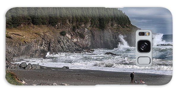 Photographer On Atlantic Beach Galaxy Case