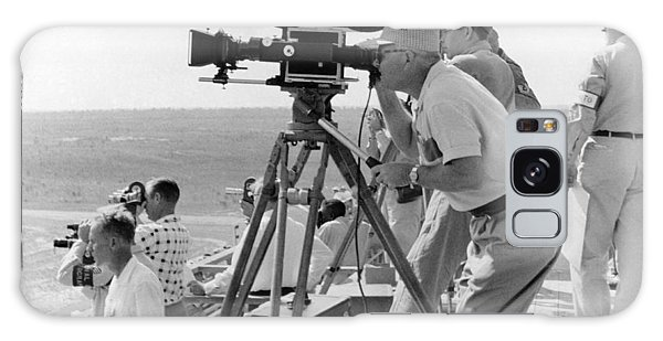 Movie Galaxy Case - Photographers Filming An Event by Underwood Archives