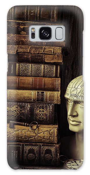 Traits Galaxy Case - Phrenology Head And Old Books by Garry Gay