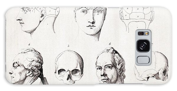 Traits Galaxy Case - Phrenology Of Famous Heads by Paul D Stewart