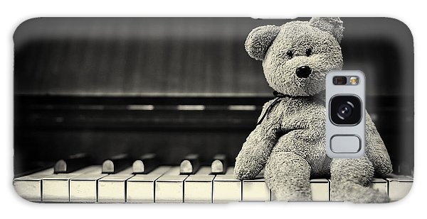 Piano Bear Galaxy Case