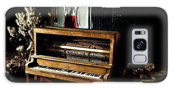 Galaxy Case featuring the photograph Piano In The Dark.  by James Sage