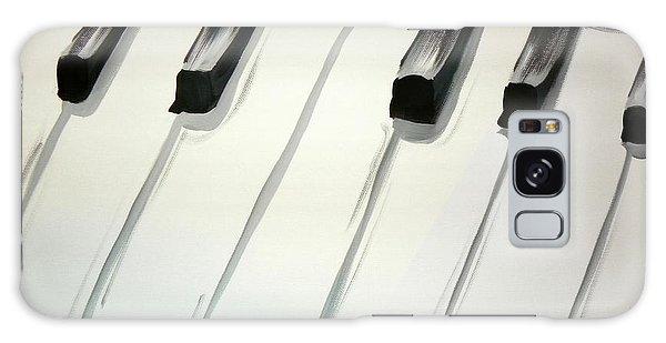 Piano Keys Galaxy Case by Marisela Mungia