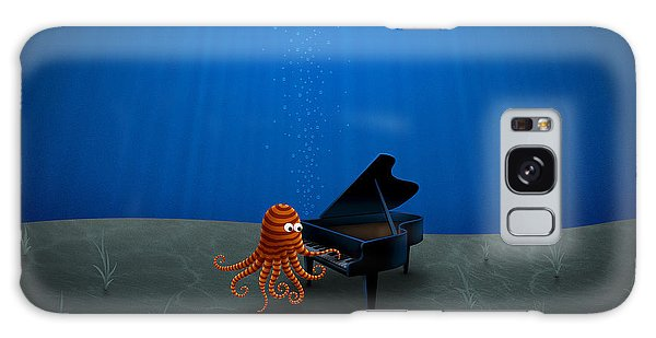 Piano Playing Octopus Galaxy Case by Gianfranco Weiss
