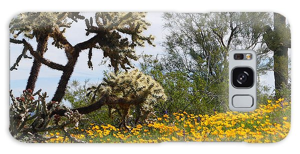 Picacho Peak Wild Flowers Galaxy Case