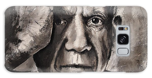 Portrait Of Pablo Picasso Galaxy Case by Maja Sokolowska