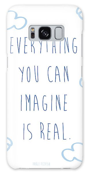 Picasso Quote Galaxy Case