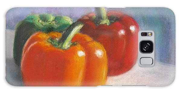 Pick A Pepper Galaxy Case by Laurie Morgan